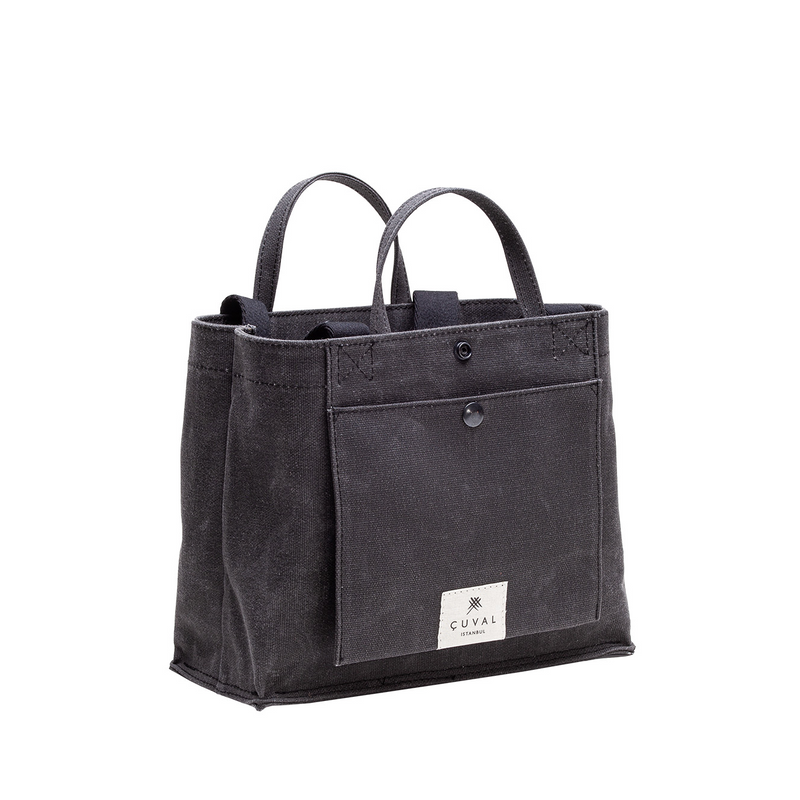 No. 201 Small Tote Charcoal (REVERSIBLE)