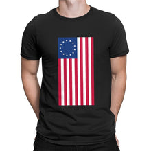 Load image into Gallery viewer, Betsy Ross 13 Star Original USA American Flag T-Shirt Sizes S-3XL
