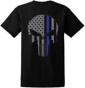 Thin Blue Skull Shirt