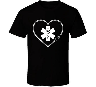 EMT Love Heart T Shirt