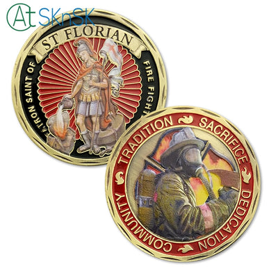Firefighters Patron St. Florian Challenge Coin