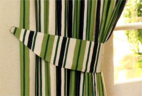 Himal Pencil Pleat Tape Curtains Green