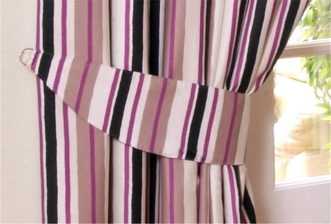 Himal Pencil Pleat Tape Curtains Purple