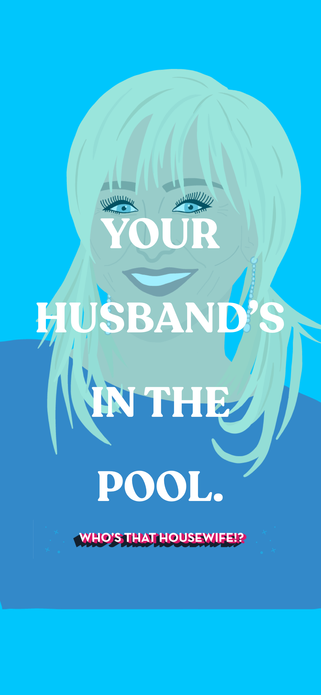 margaret josephs your husbands in the pool quote illustration