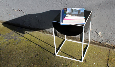 black drape side table