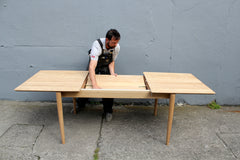 Solid oak dining table (extending option available)