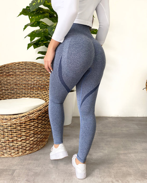 Contour Scrunch Seamless Leggings (Blue)