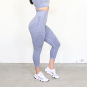 Desi Blue Grey Seamless Leggings