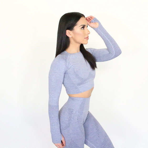 Desi Blue Grey Seamless Top