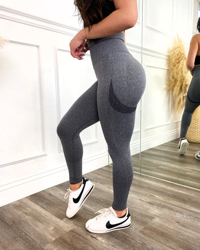 Contour Scrunch Seamless Leggings (Charcoal)