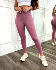 Contour Scrunch Seamless Leggings (Pink Rose)