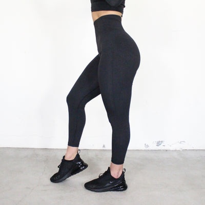 Desi Black Seamless Leggings