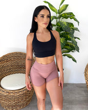 Lani Workout Shorts (Dusty Pink)