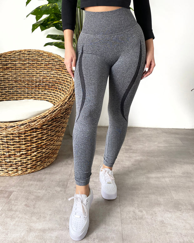 Contour Scrunch Seamless Leggings (Gray)