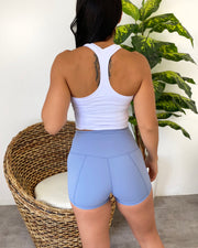 Lani Workout Shorts (Baby Blue)