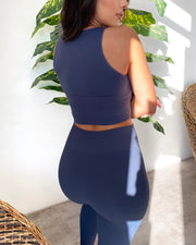 Ribbed Everyday Leggings (Stone Blue)