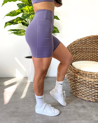 Serene Soft Pocket Shorts (Lavender)