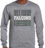 Load image into Gallery viewer, (P20) Falcon Repeat Dry Blend Long Sleeve Tee (Youth & Adult)