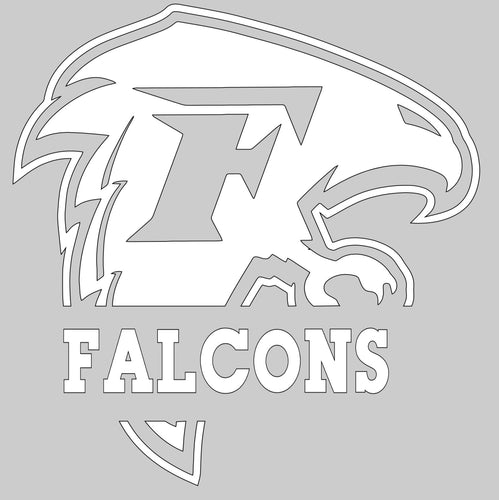 (P20) Falcon Window Decal (various sports)