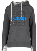 Load image into Gallery viewer, (MM) Mustangs Ladies Varsity Double Hood Pullover