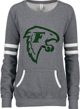 Load image into Gallery viewer, (T) Falcon Ladies Varsity Fleece  Pullover