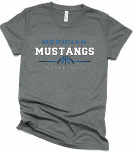 (MM) - Mustangs Basketball Short Sleeve Tee
