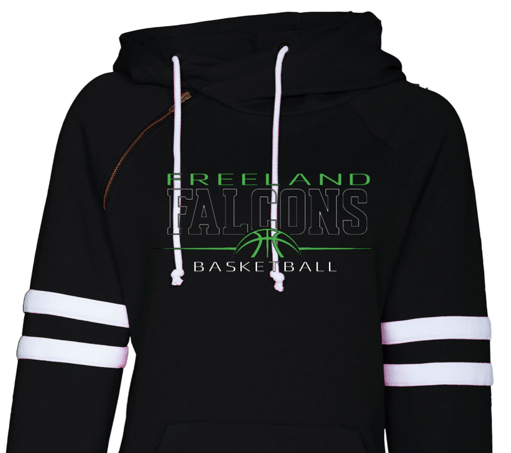 (BB) Basketball Ladies Varsity Double Hood Pullover