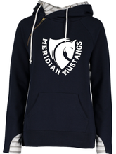 Load image into Gallery viewer, Ladies Varsity Double Hood Pullover