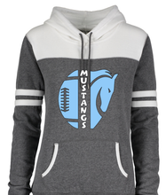 Load image into Gallery viewer, Ladies Varsity Fleece Hooded Pullover