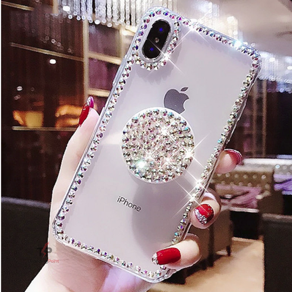 Diamond Border Case with Diamond Stand Holder For iPhone - Technology