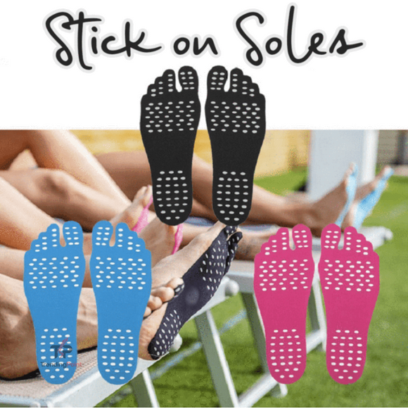 NakeFit Foot Pads - Stick On Soles - outdoors