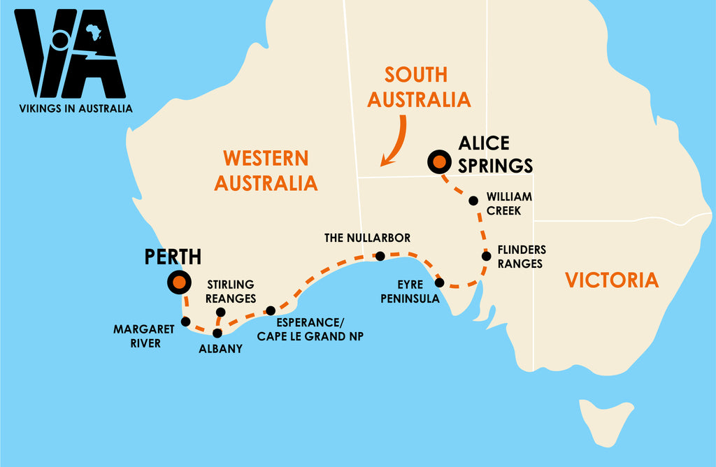 Alice Springs to Perth (3 weeks)