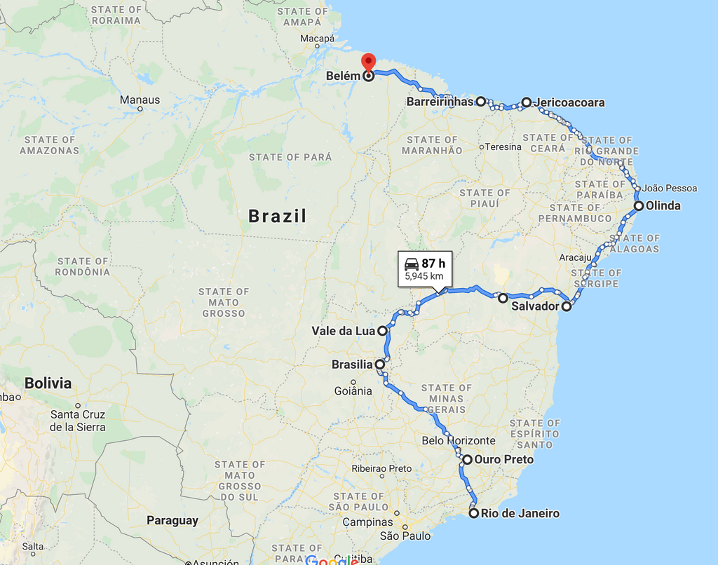 Leg 11, May 2021: Rio to Belem