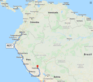 Leg 5, February 2022: Quito to Cuzco