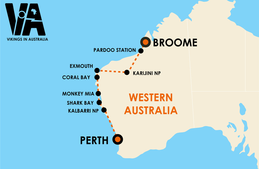 Perth to Broome (3 weeks)