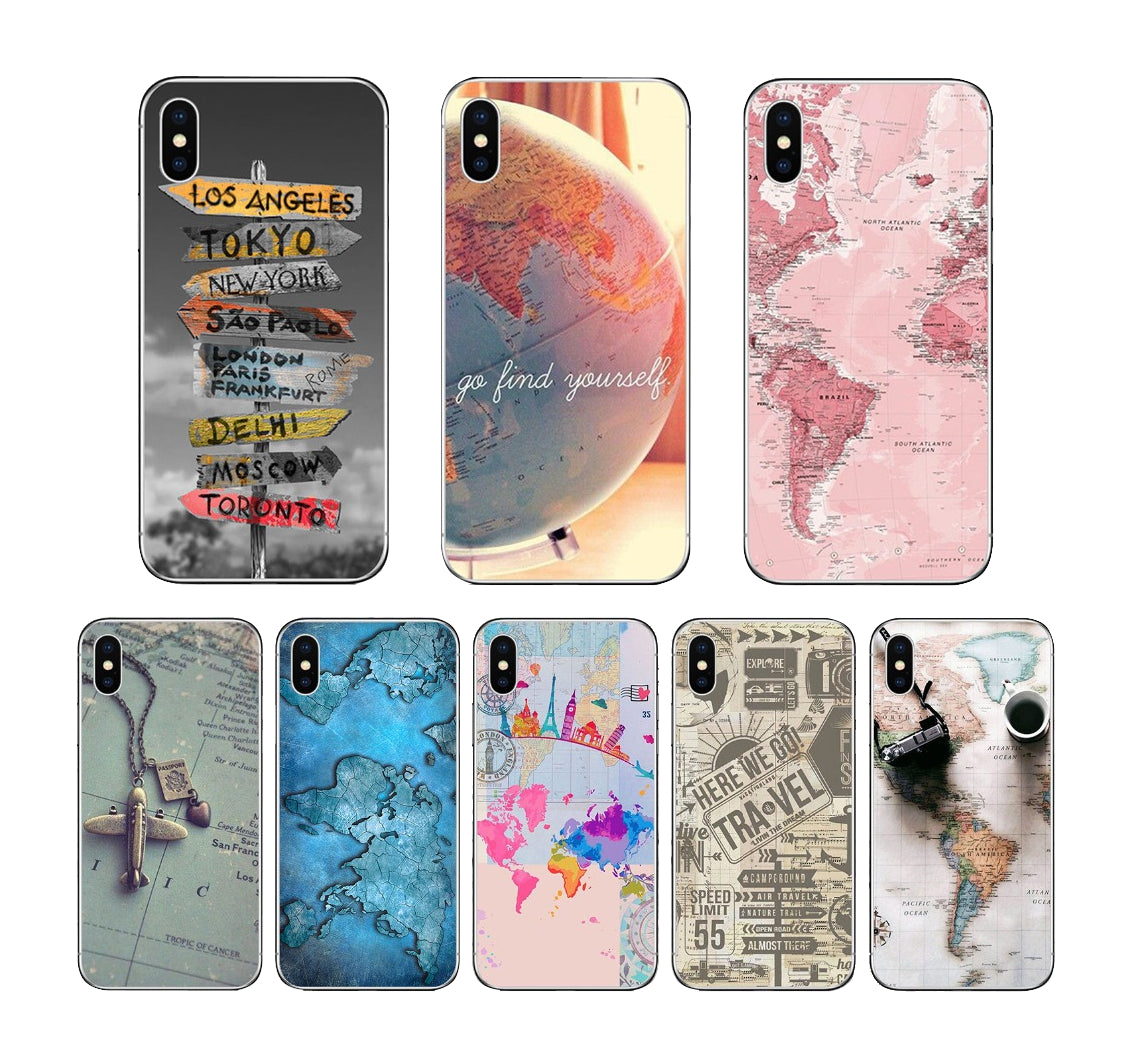 World Map Travel Cases