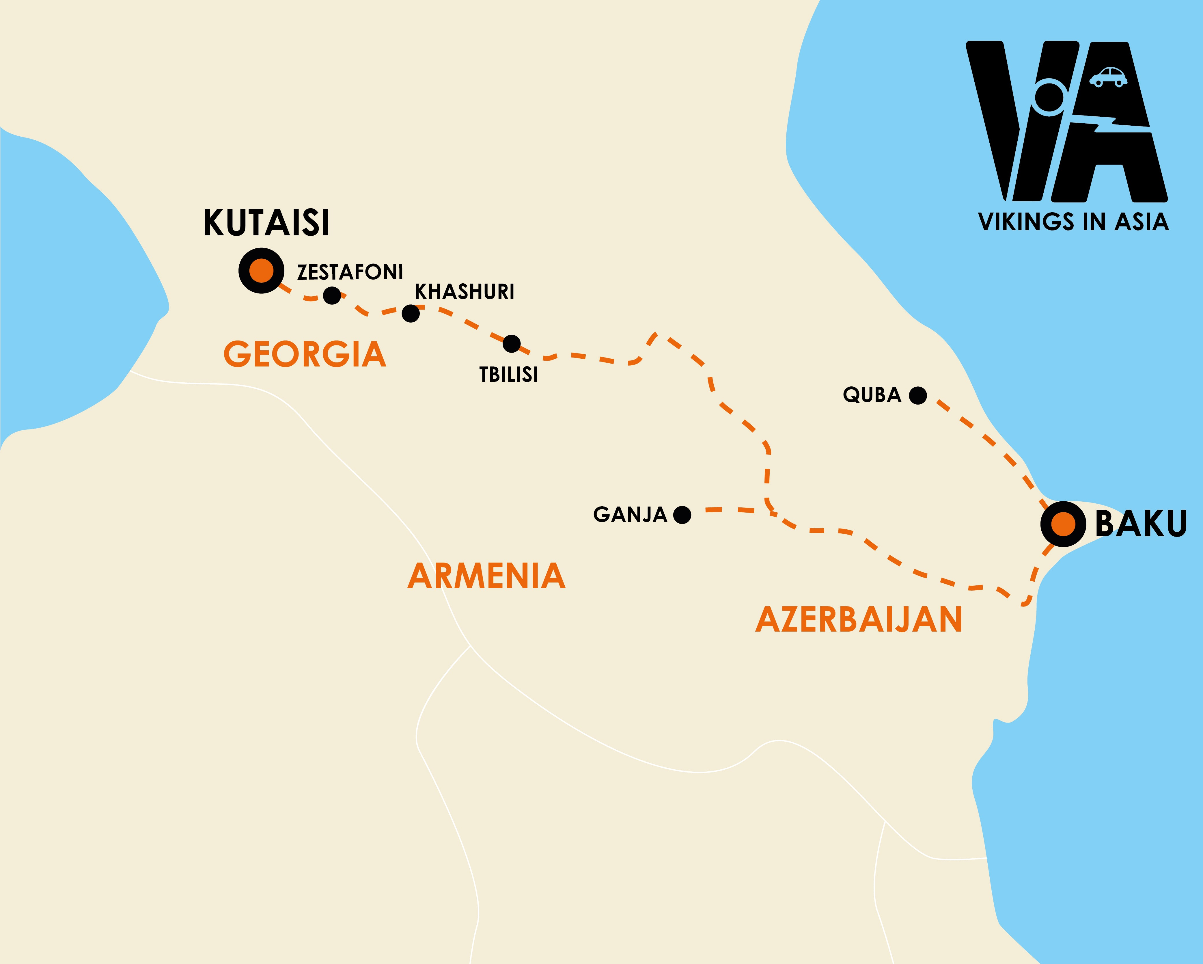 Kutaisi to Baku (2 weeks)