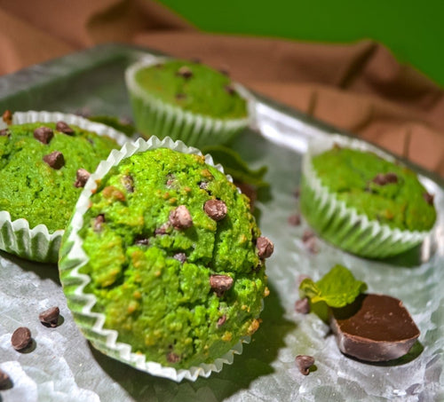 Keto Protein Mint Chocolate Chip Muffin