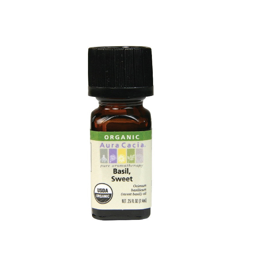 Aura Cacia Basil Sweet Organic Essential Oil (7.4 ml)