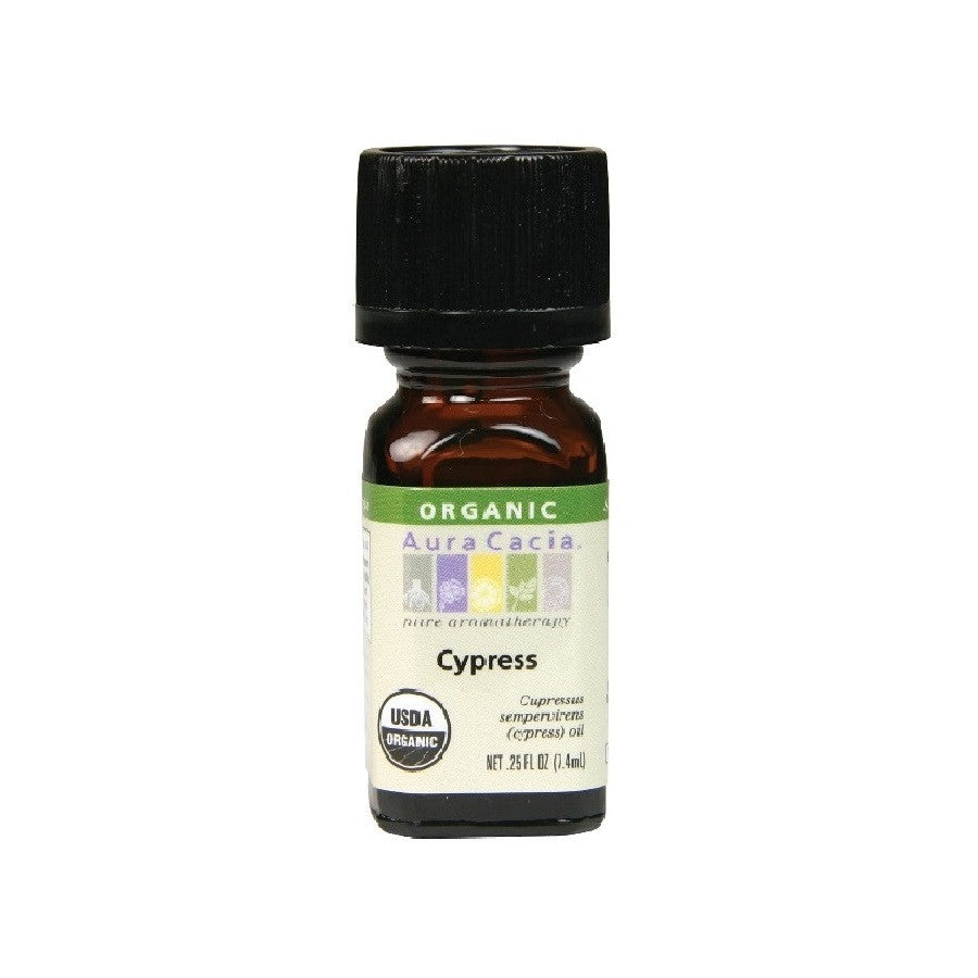 Aura Cacia Cypress Organic Essential Oil (7.4 ml)
