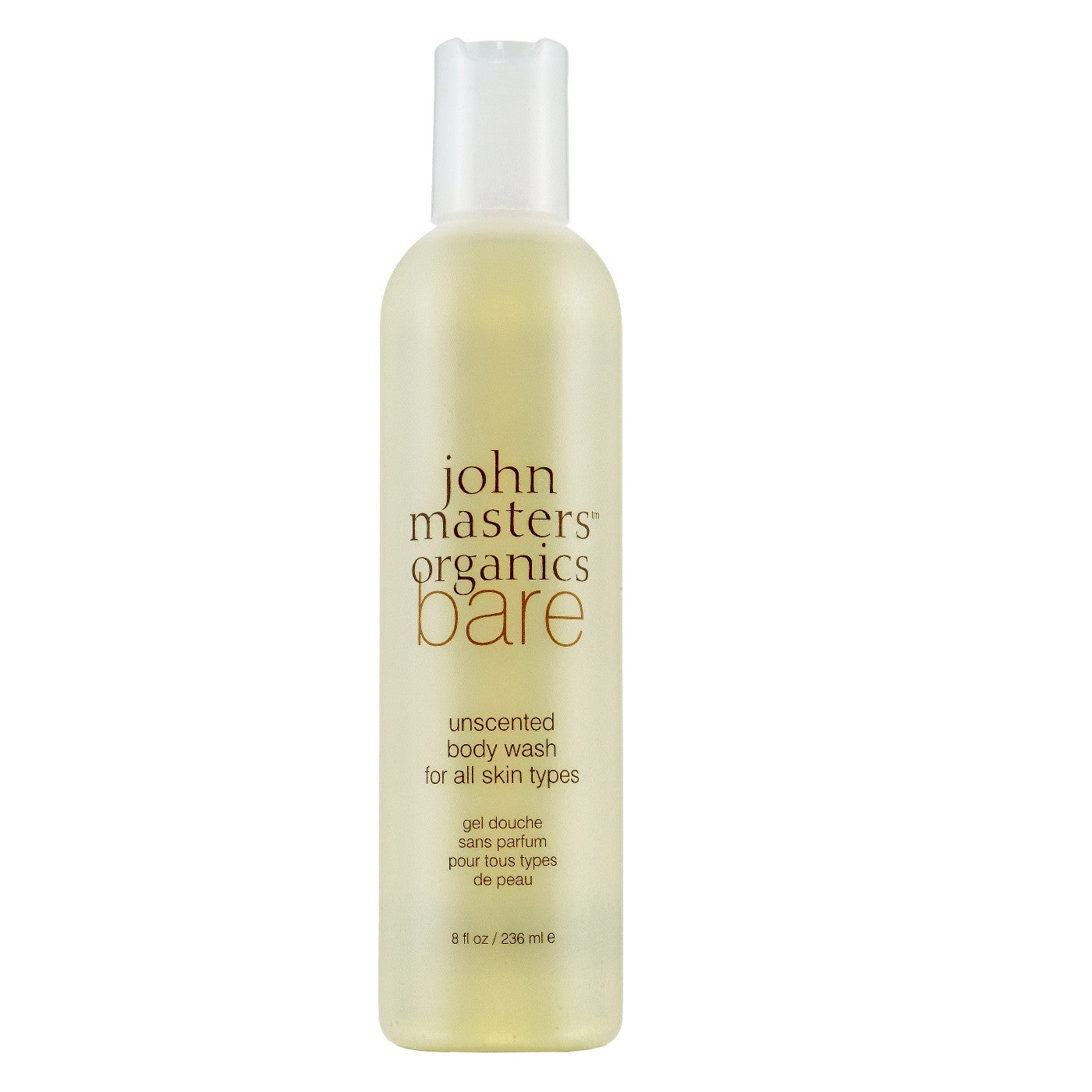 John Masters Organics - Bare Unscented Body Wash for All Skin Types (8 fl oz.)