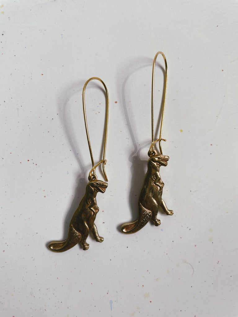 T-Rex Charm Earrings