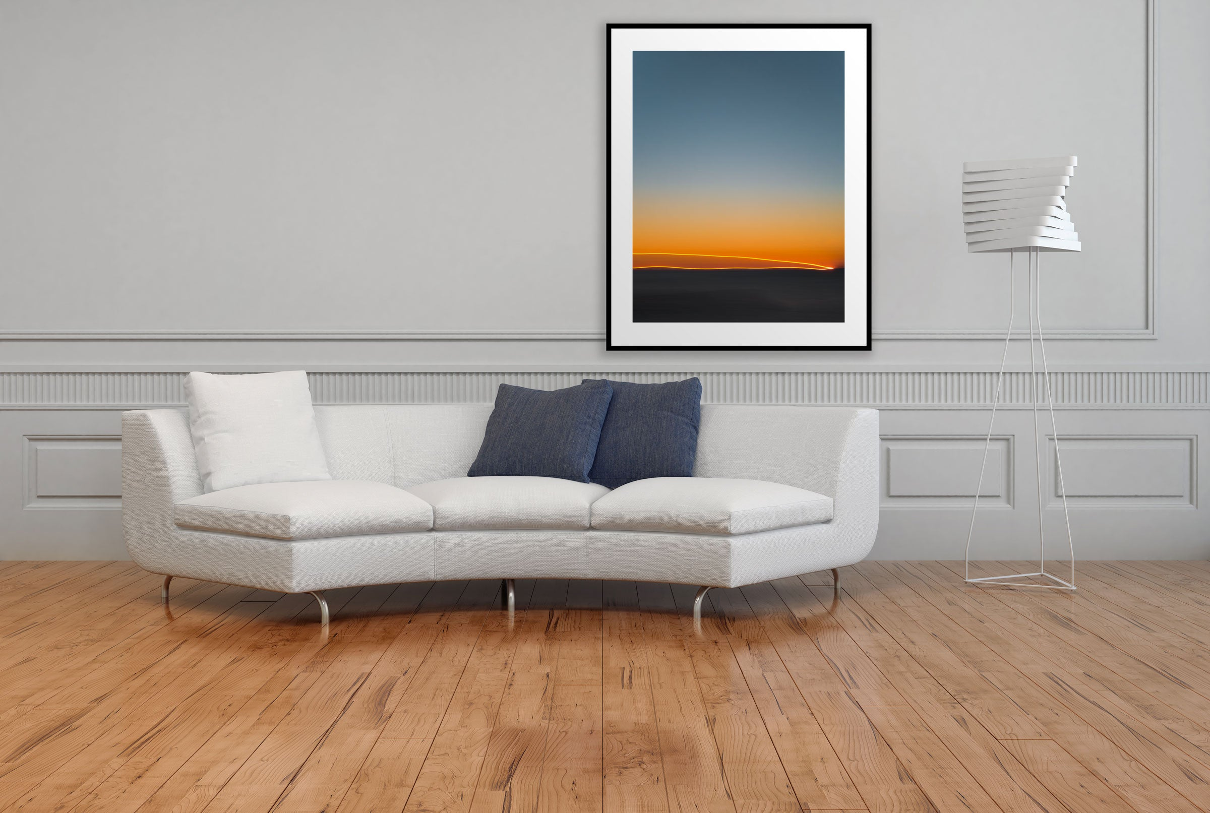 Artwork FirstLight 43 Above Sofa Black Frame