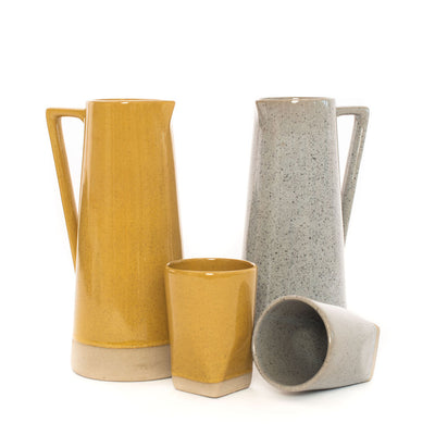 Sander Faceted Dipped Tumbler (Mustard)