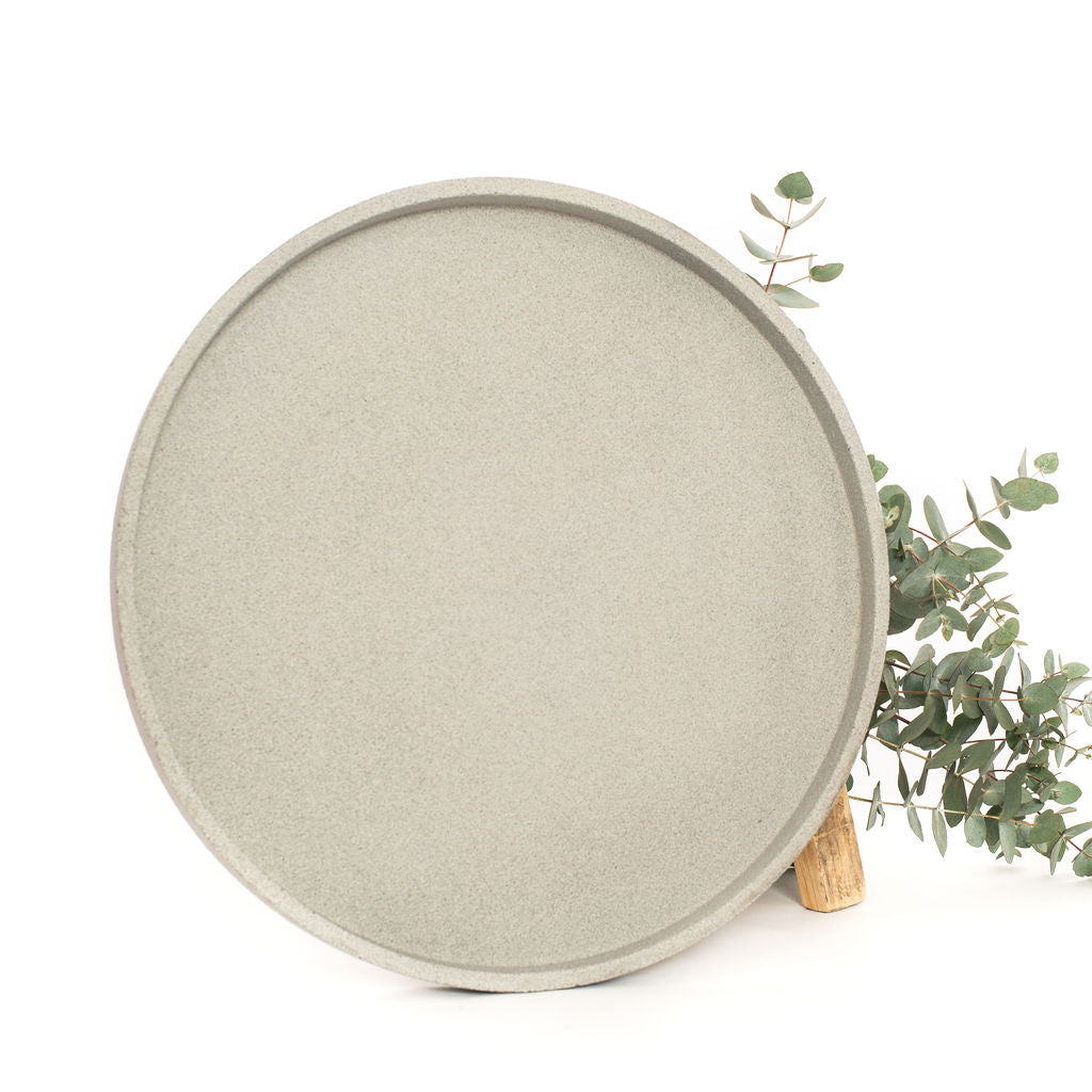 Concrete Round Tray (Natural)