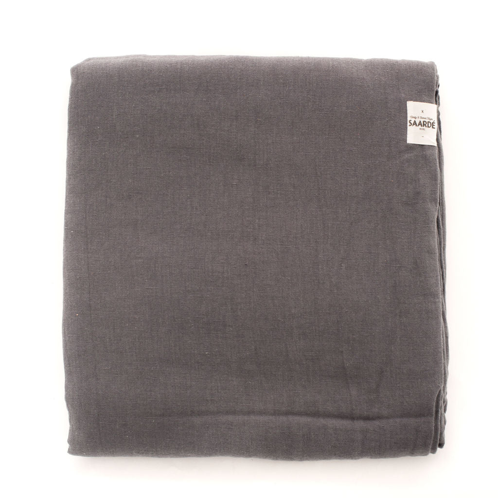 Linen Quilt Set In (Charcoal)