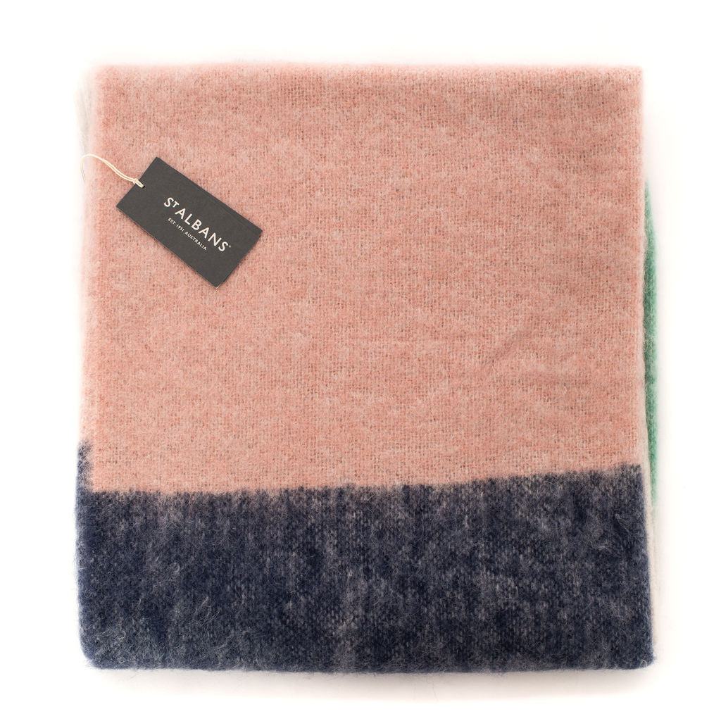 Mohair Throw Rug (Poppy)