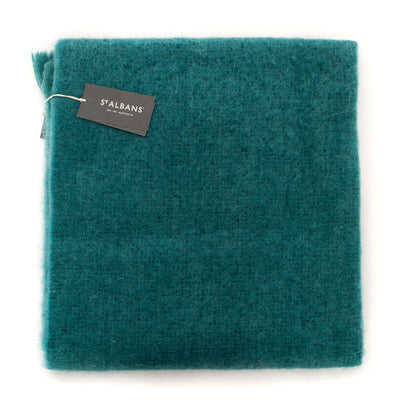 Mohair Throw Rug (Teal)