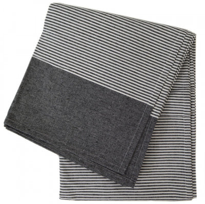 Pinstripe Tablecloth (Black)