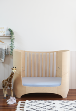 Fitted Cot Sheet (Blue)